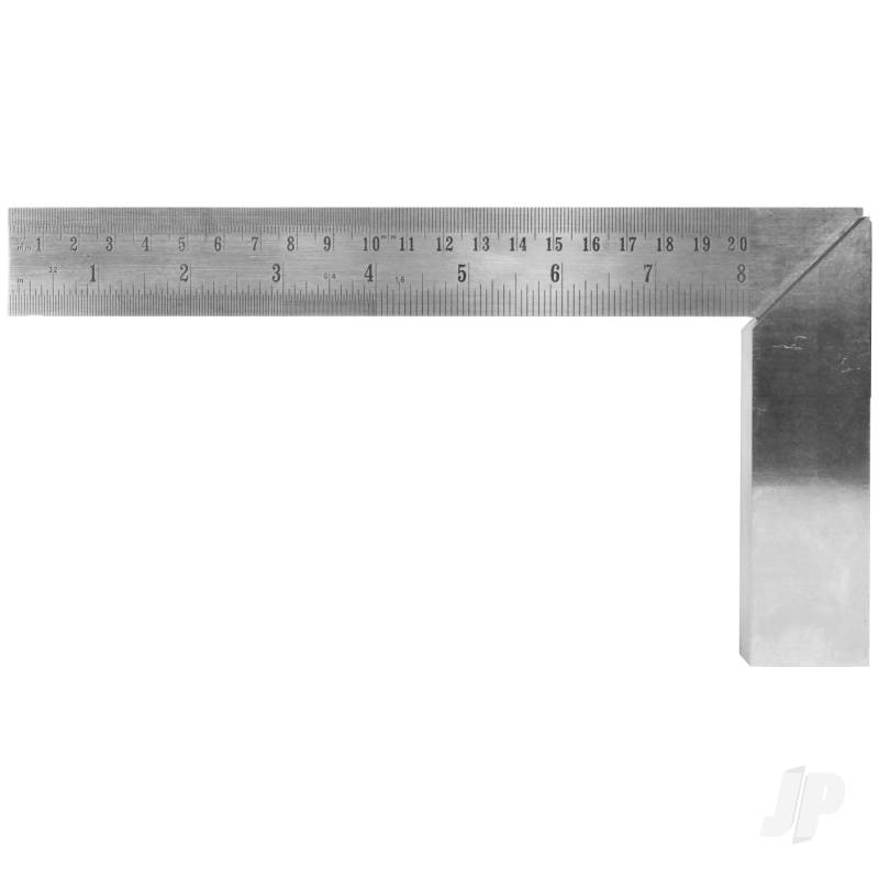 8in (20.32cm) Precision Carbon Steel Machine Square(Bulk)