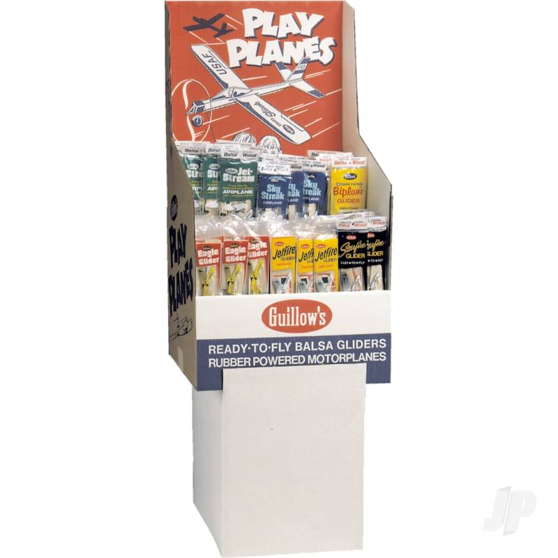 Balsa Planes 2-Tier 6-Assortment Floorstand (174pcs)