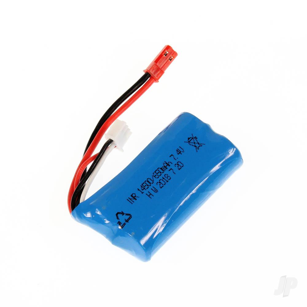 LiIon 2S 650mAh 7.4V JST Battery