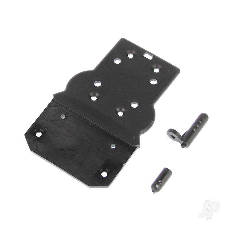 681-P004 Front Bottom Plate + Buggy Body Posts (Hailstorm, Blaster, Gallop)