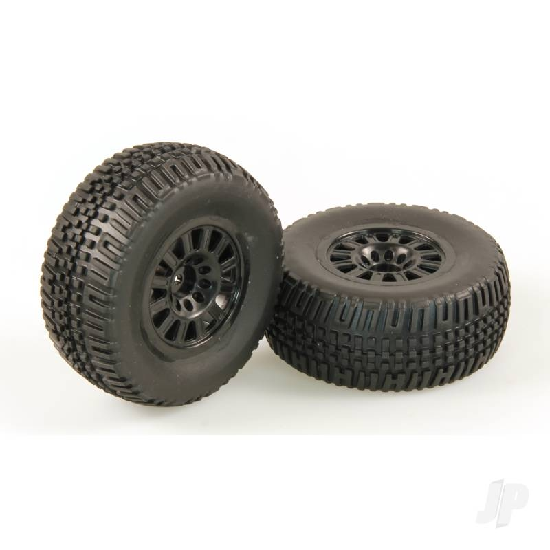 Tires, Mounted, Black Wheel, 24mm (Dominus 10SC)