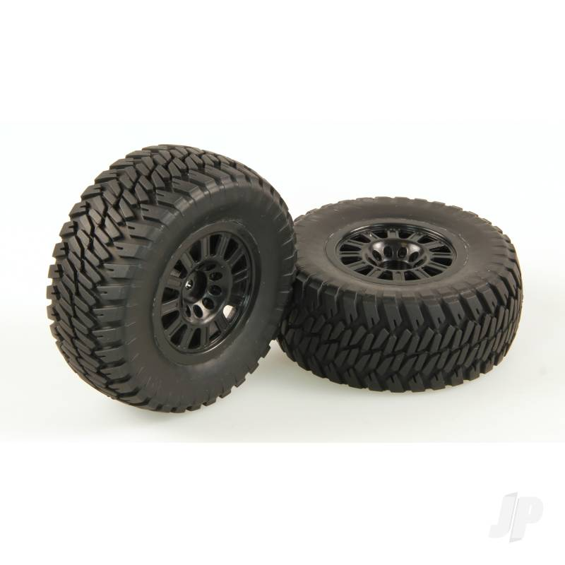 Tires, AT2, Mounted, Black Wheel, Pair (Dominus 10SC)