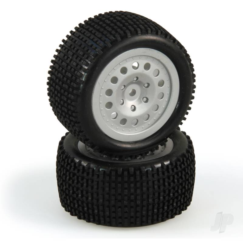 Tire and Wheel Set, Rear, Silver, Premounted (Criterion)
