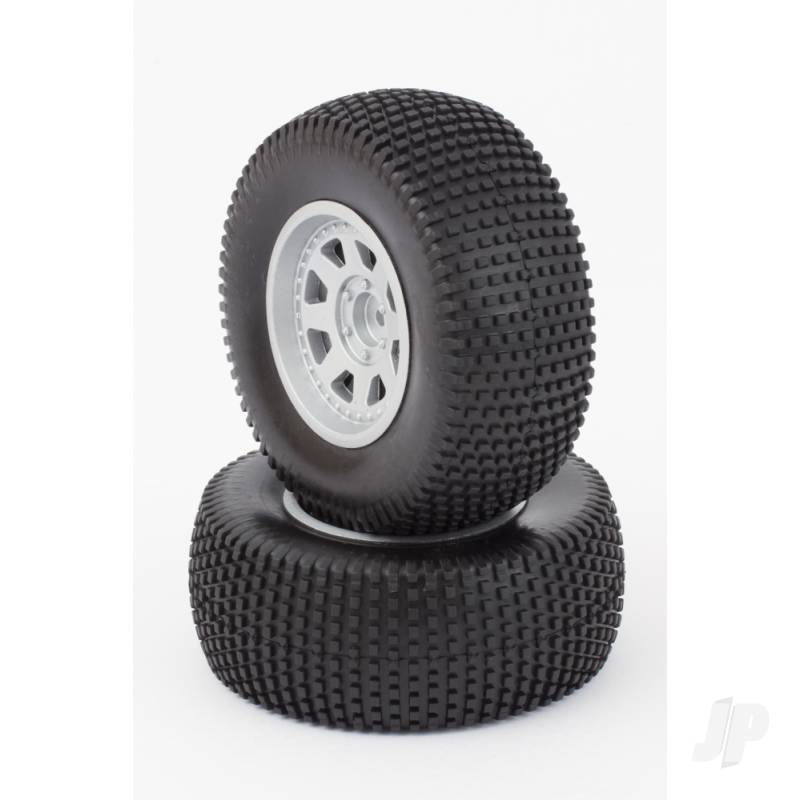 Tires, Mounted, Silver Wheel, 24mm (Dominus 10SC)