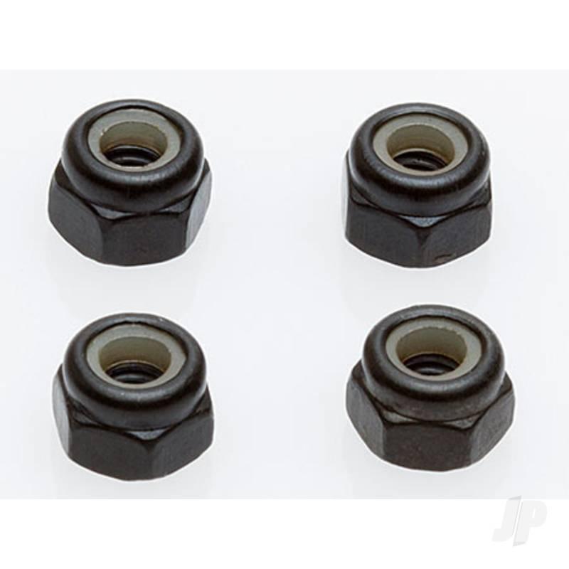 Wheel Locknuts, M4, Black