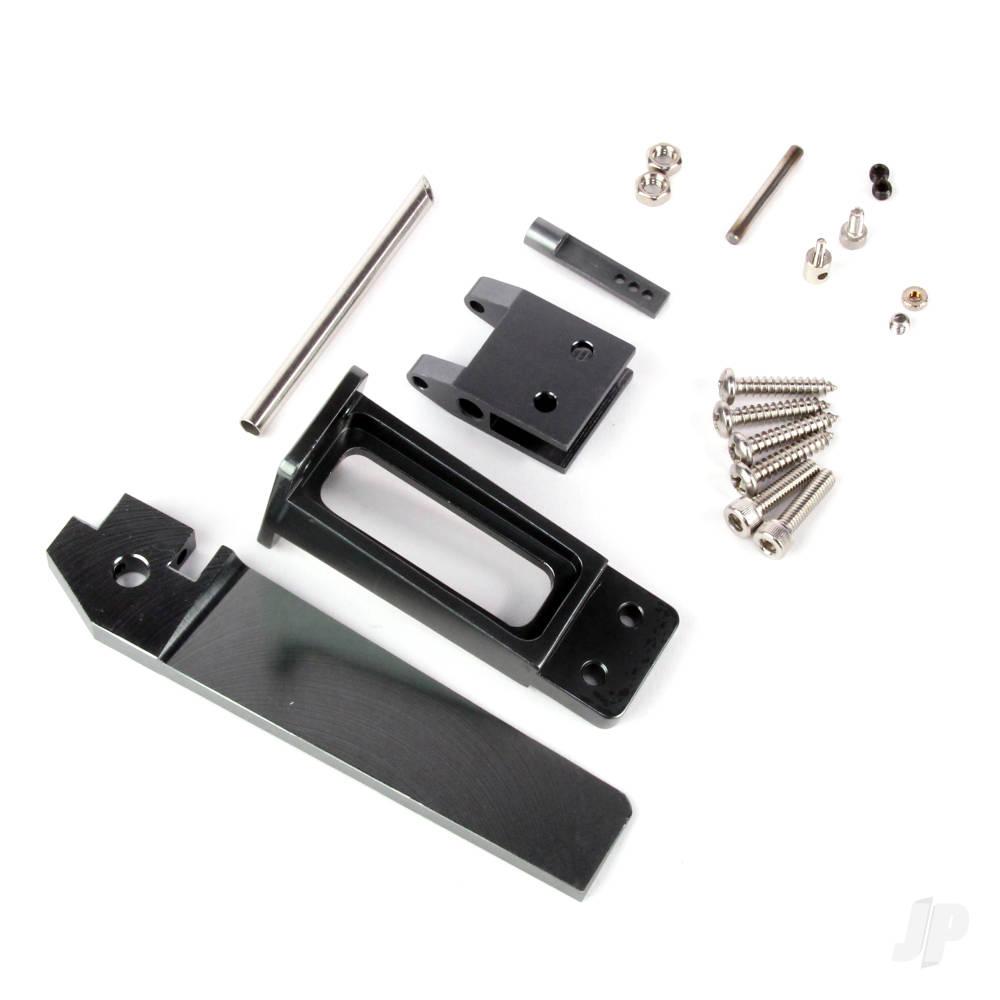 CNC Aluminium Alloy Rudder with Plastic Rudder Support Set