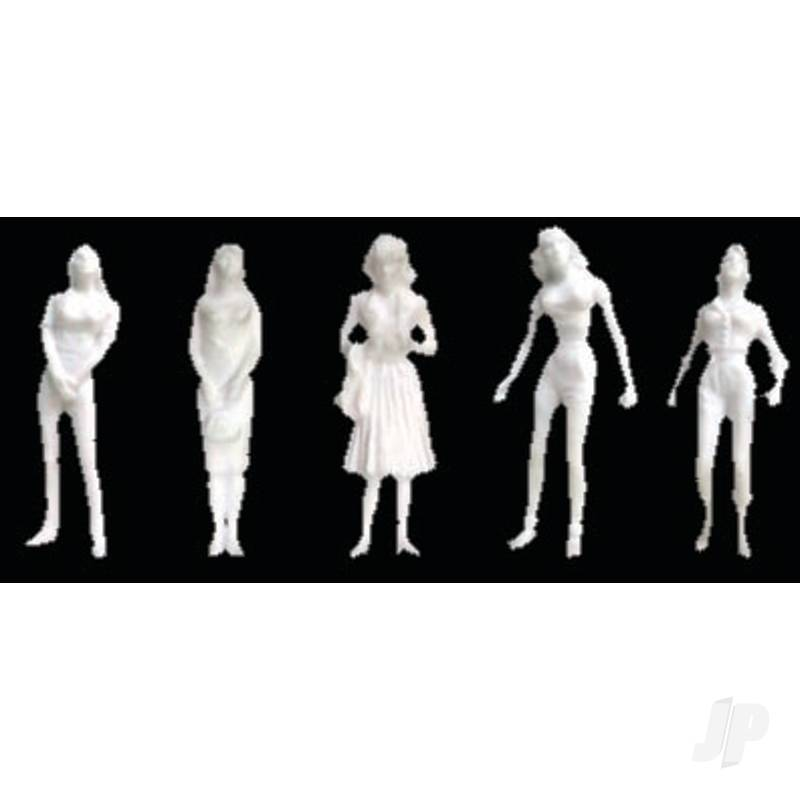 Female Figures, 1/8in (1:100), White, (10 per pack)