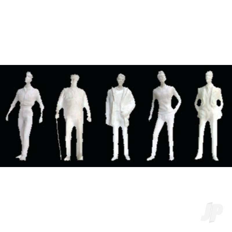 Male Figures, 1/8in (1:100), White (10 per pack)