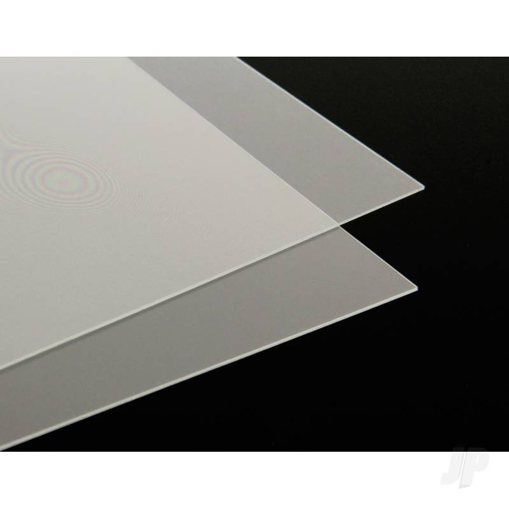 .010in 8.5x11in Clear Plastic Sheet (2pcs)