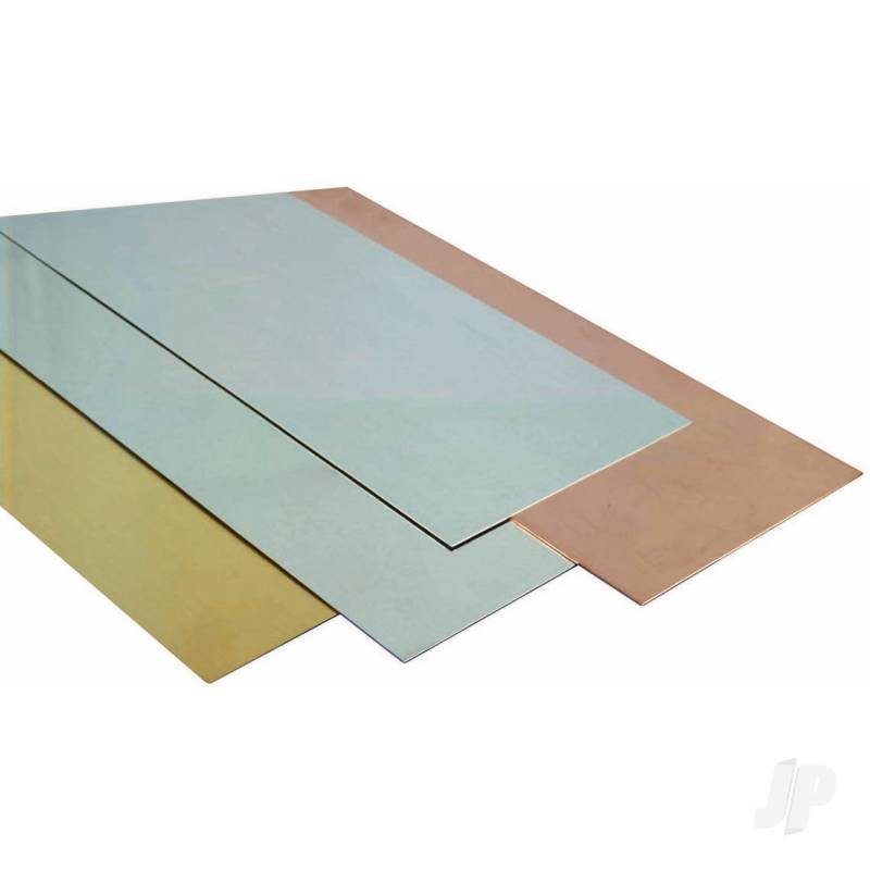 .032 (20ga) 10x4in Brass Sheet  (Bulk Pack of 3 Items)