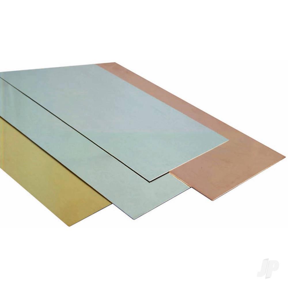 .001,.002,.003,.005 10x4in Brass Sheet, Assorted Shim  (Bulk Pack of 6 Items)
