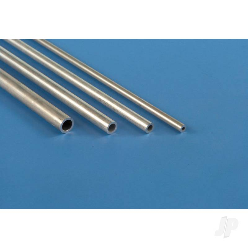 4mm 1m Round Aluminium Tube, .45mm Wall  (Bulk Pack of 5 Items)