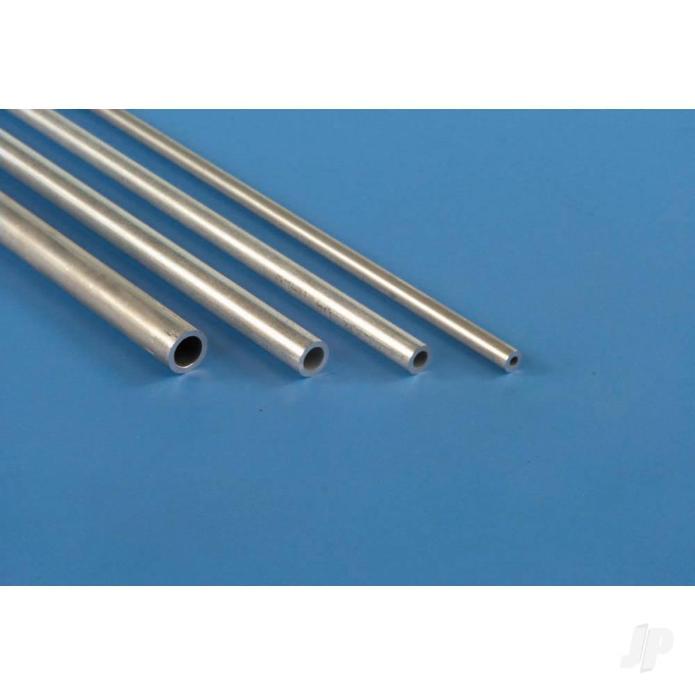 6mm 1m Round Aluminium Tube, .45mm Wall  (Bulk Pack of 4 Items)
