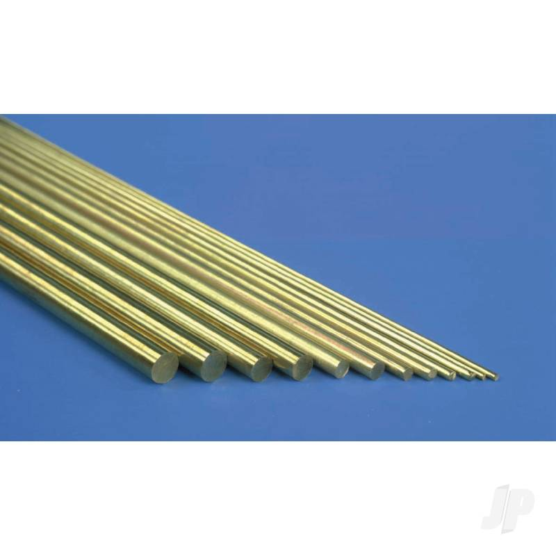 2mm 1m Round Brass Rod (3 per Item) (Bulk Pack of 5 Items)