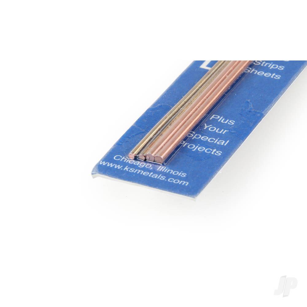 12in 1/16 Round Copper Rod (3pcs)
