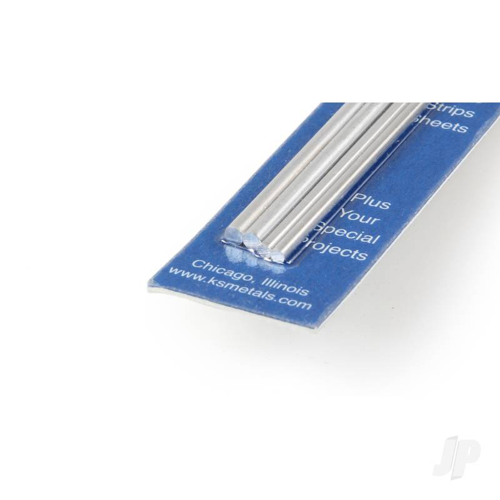 12in Soft Bendable Solid Aluminium Rod 3/32, 1/8 (4pcs)