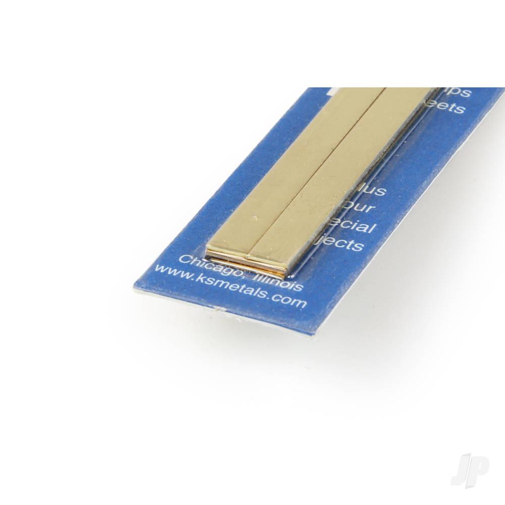 12x.32in Bendable Brass Strip 1/4, 1/2 (4pcs)