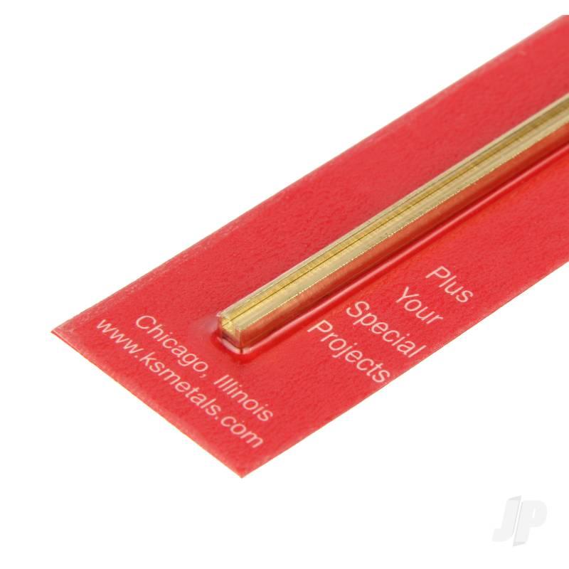 1/8x12in (H-4) H-Column Brass
