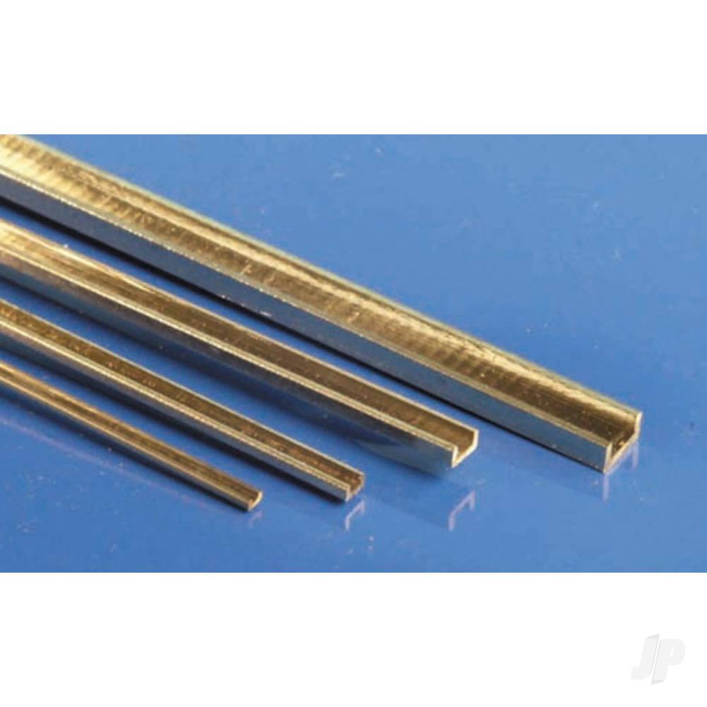 1/8x1/16x12in (C-4-2) C-Channel Brass