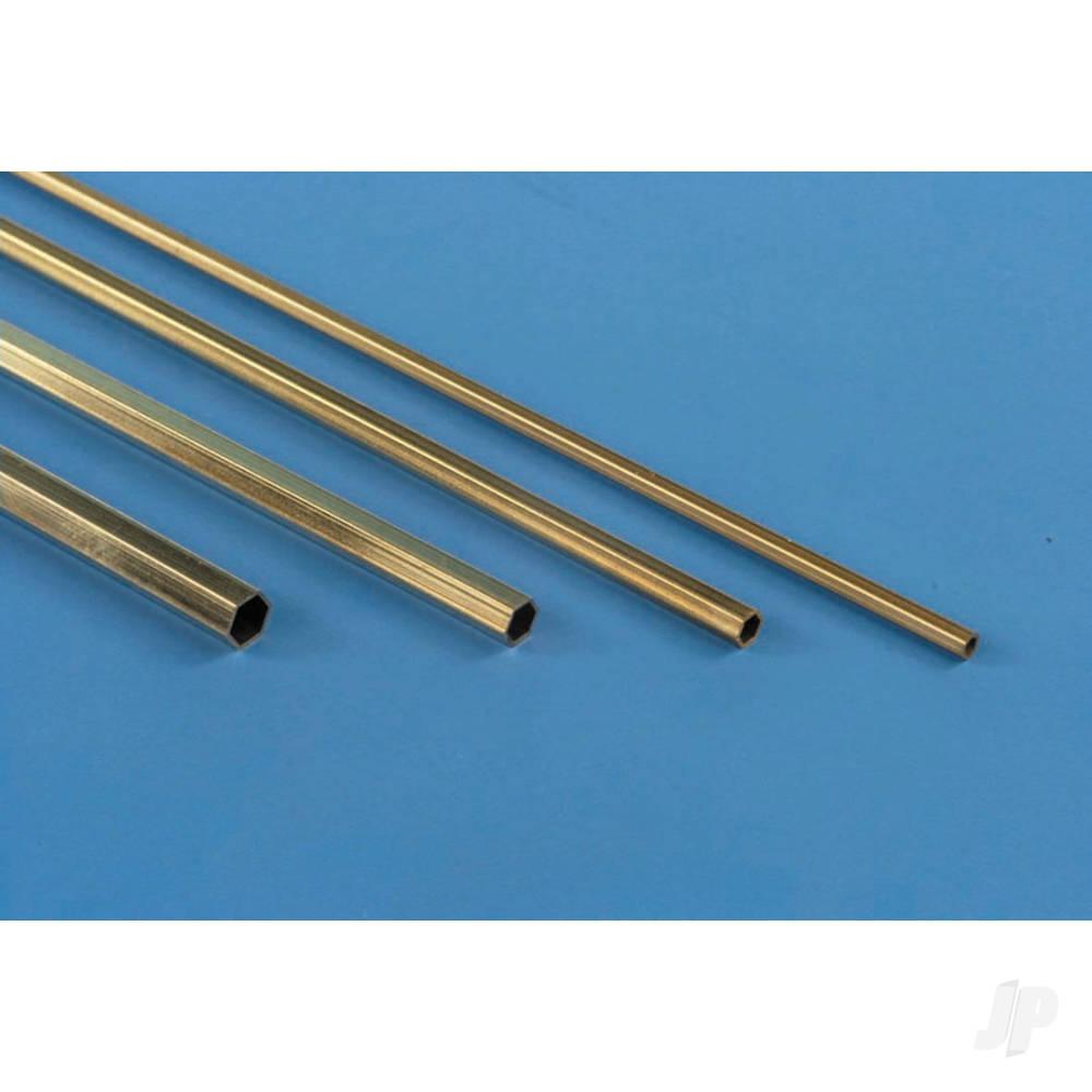1/8x12in Hexagonal Brass Tube