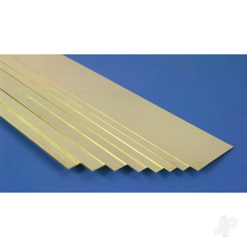 1in 36in Brass Strips, .093in Thick  (Bulk Pack of 3 Items)