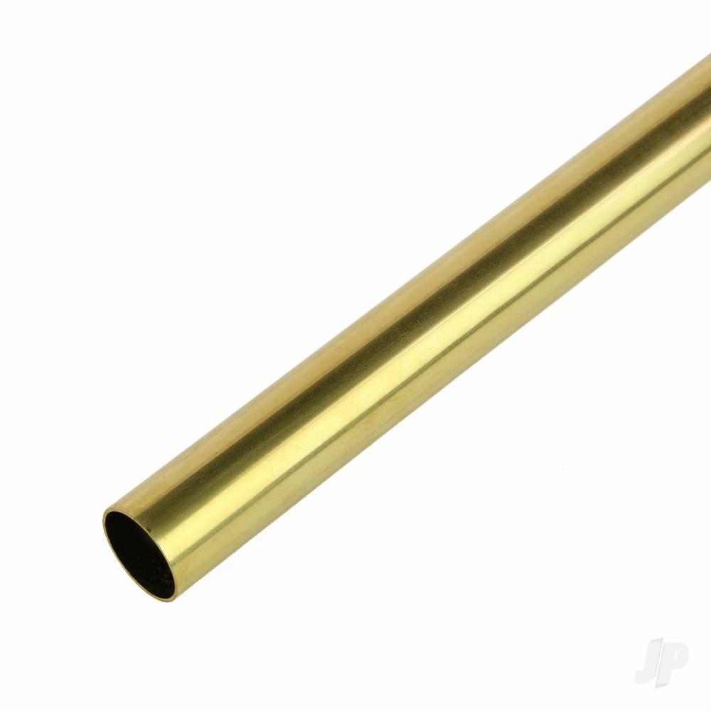 2x300mm Round Brass Tube, .45mm Wall (4pcs)