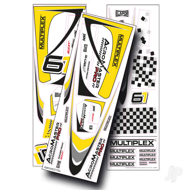 AcroMaster Decals Yellow / Silver