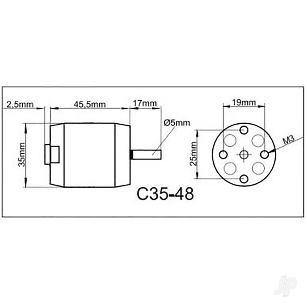 315082 Multiplex ROXXY Brushless Motor BL Outrunner C35-48-1150kV