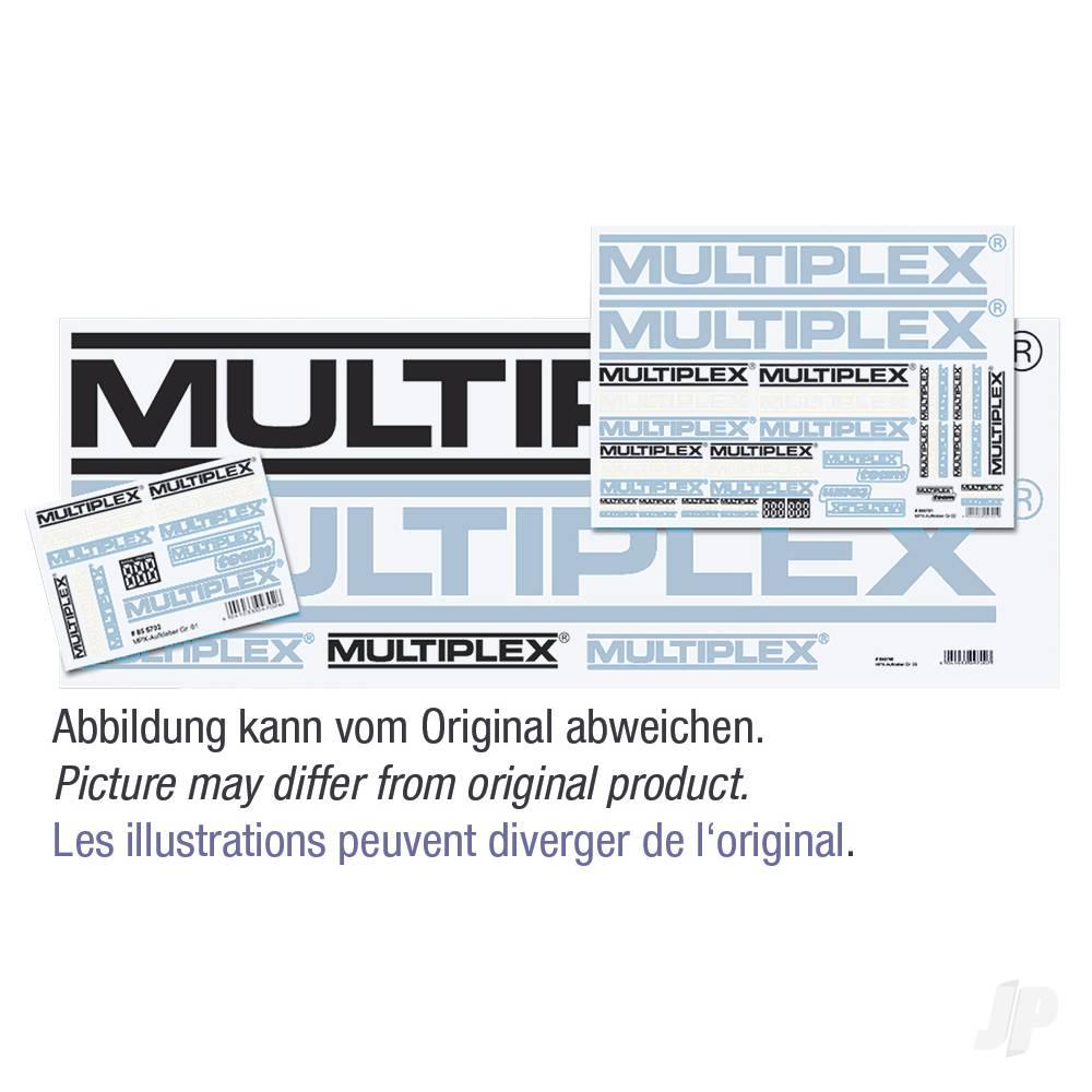 Sticker Set MULTIPLEX-Logo Black/White/Silver 3