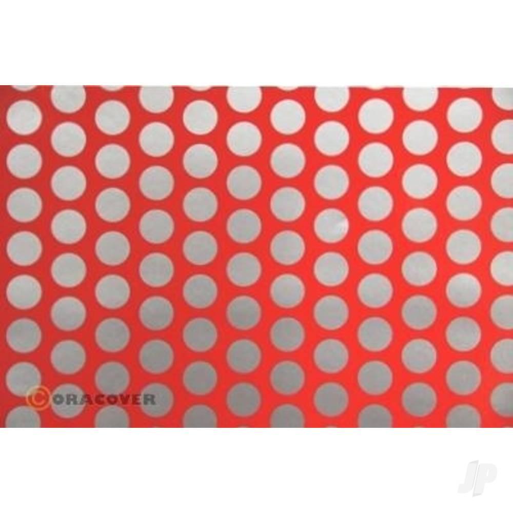 2m Oracover Fun-1 Fluorescent Red/Silver