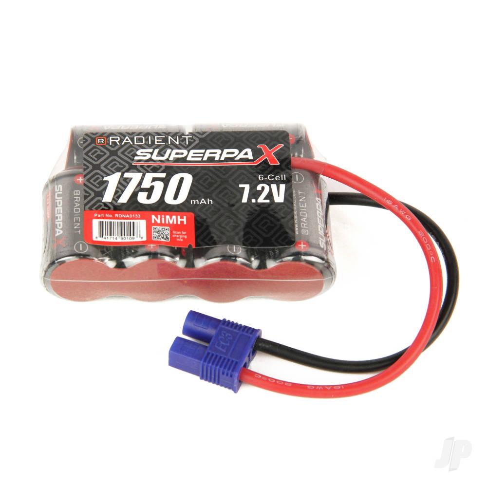 NiMH 7.2V 1750mAh 2/3A 4-2 SBS-Flat, EC3