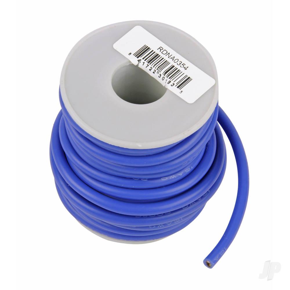 Silicone Wire, 12ga, 1062 Strand, 25ft Blue