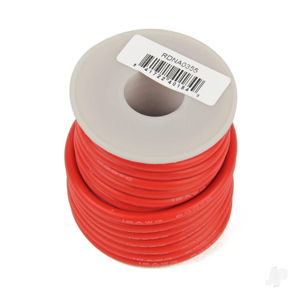 Silicone Wire, 12ga, 1062 Strand, 25ft Red