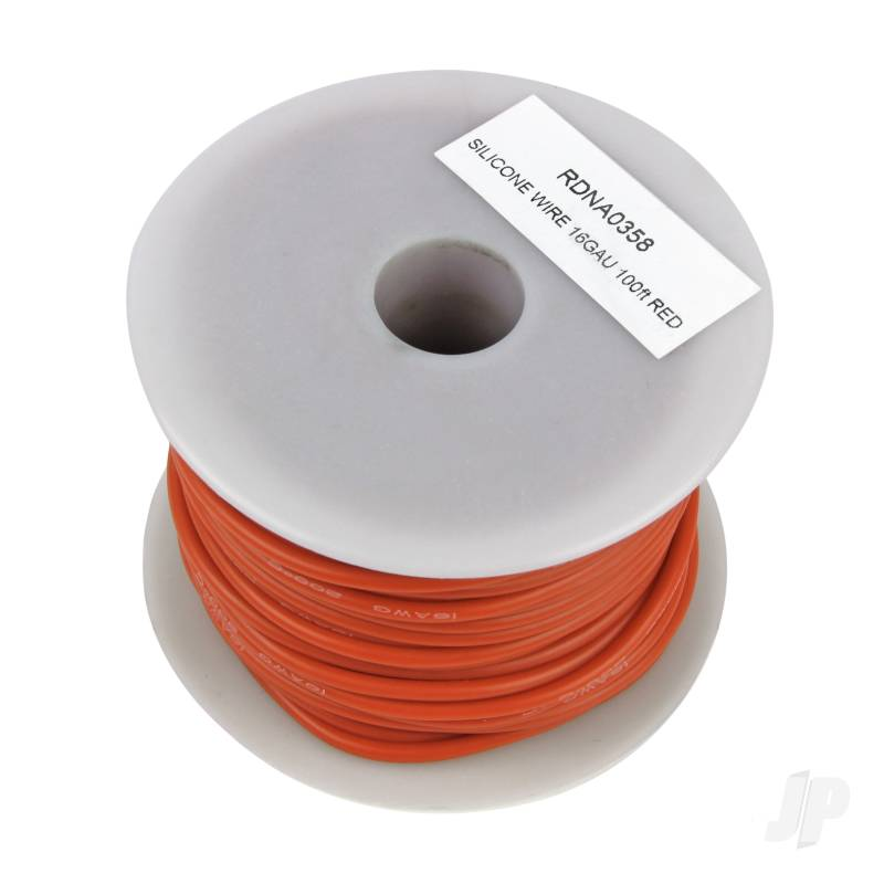 Silicone Wire, 16ga, 100ft Red
