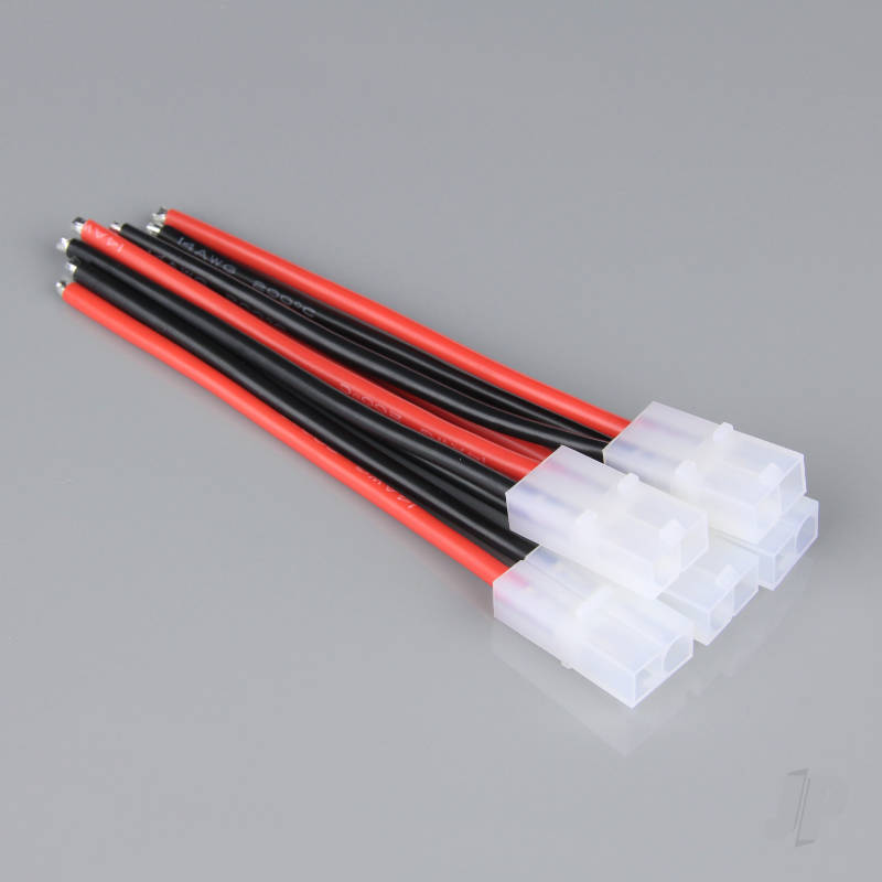 Pigtail Connector, Tamiya Female, 14AWG, 100mm (Battery End) (5pcs)
