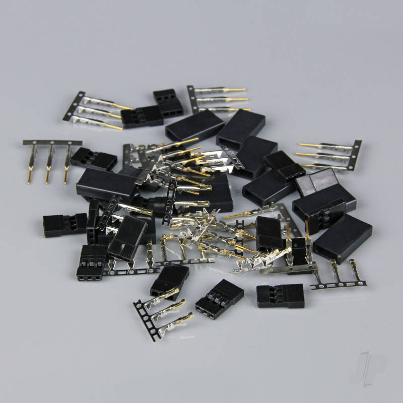 Hitec / JR Connectors Pairs with Gold Pins (10 pcs)