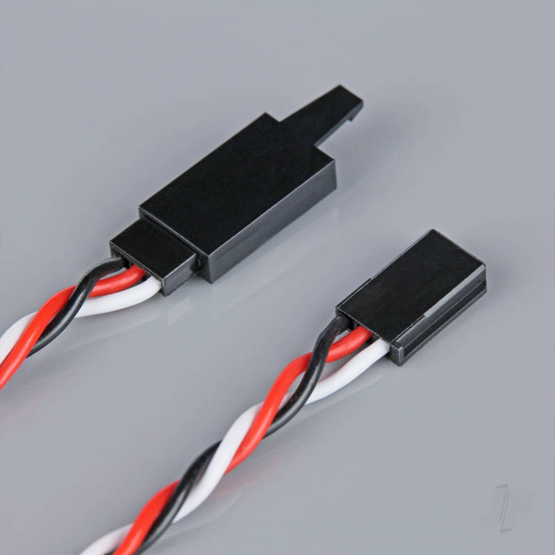 Futaba Twisted HD Extension Lead with Clip 800mm