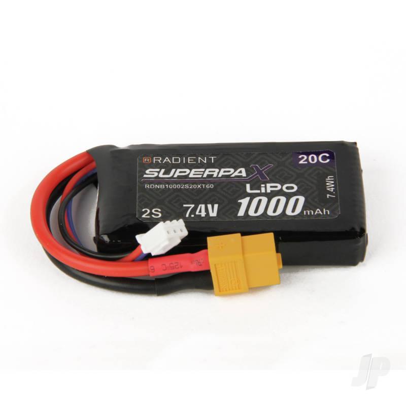 LiPo 2S 1000mAh 7.4V 20C XT60