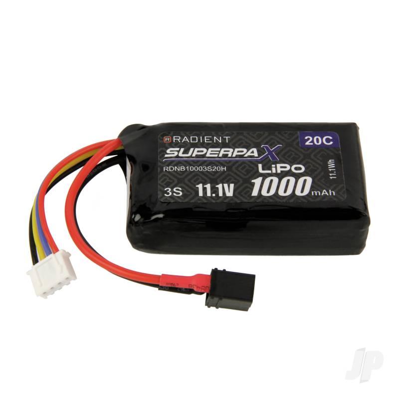 LiPo 3S 1000mAh 11.1V 20C Deans (HCT)