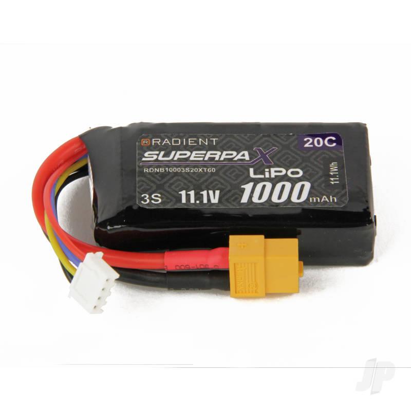 LiPo 3S 1000mAh 11.1V 20C XT60