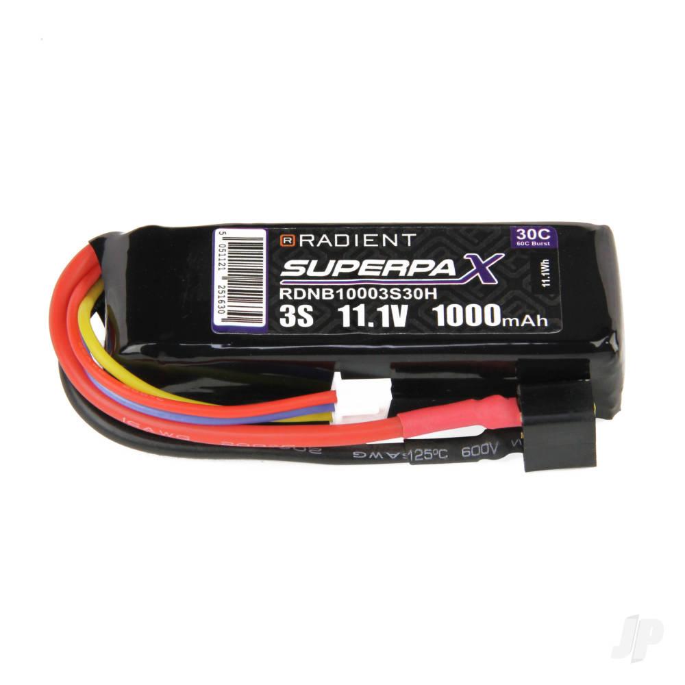 LiPo 3S 1000mAh 11.1V 30C Deans (HCT)