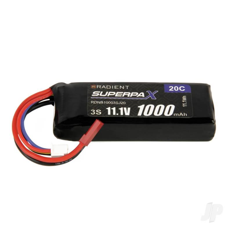 LiPo 3S 1000mAh 11.1V 20C JST