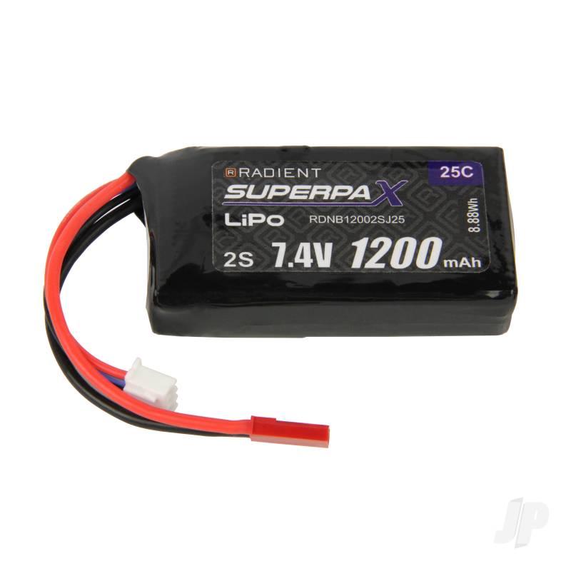 LiPo 2S 1200mAh 7.4V 25C JST