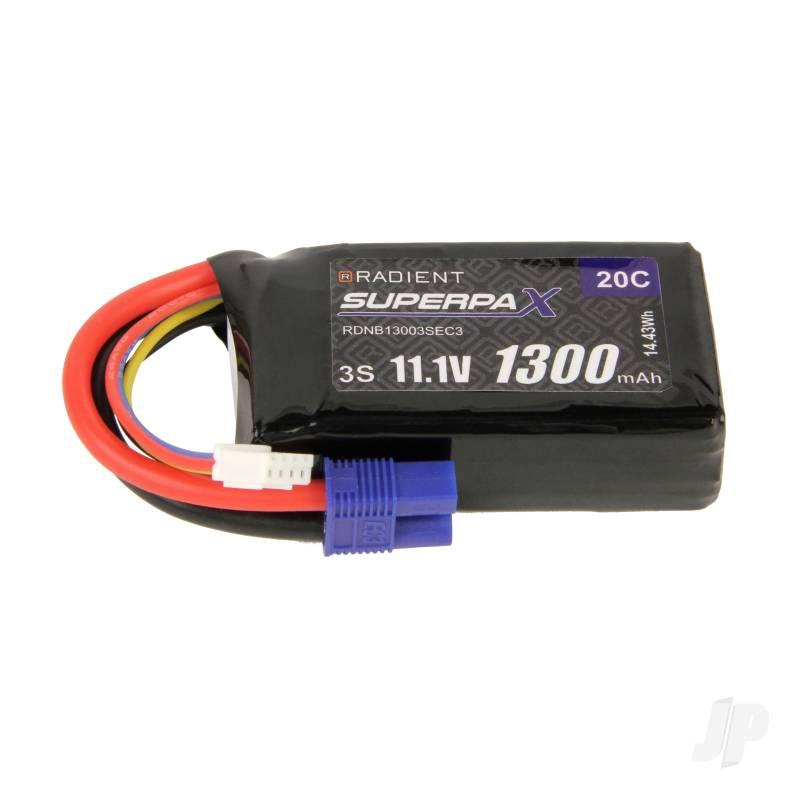 LiPo 3S 1300mAh 11.1V 20C EC3