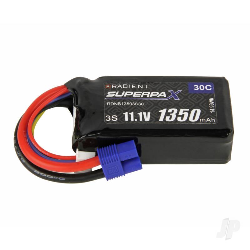 LiPo 3S 1350mAh 11.1V 30C EC3
