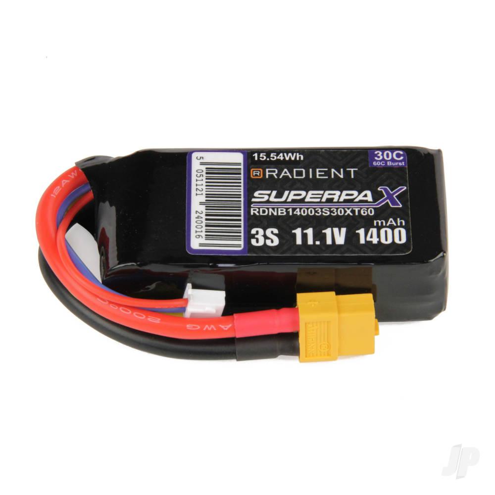 LiPo 3S 1400mAh 11.1V 30C XT60
