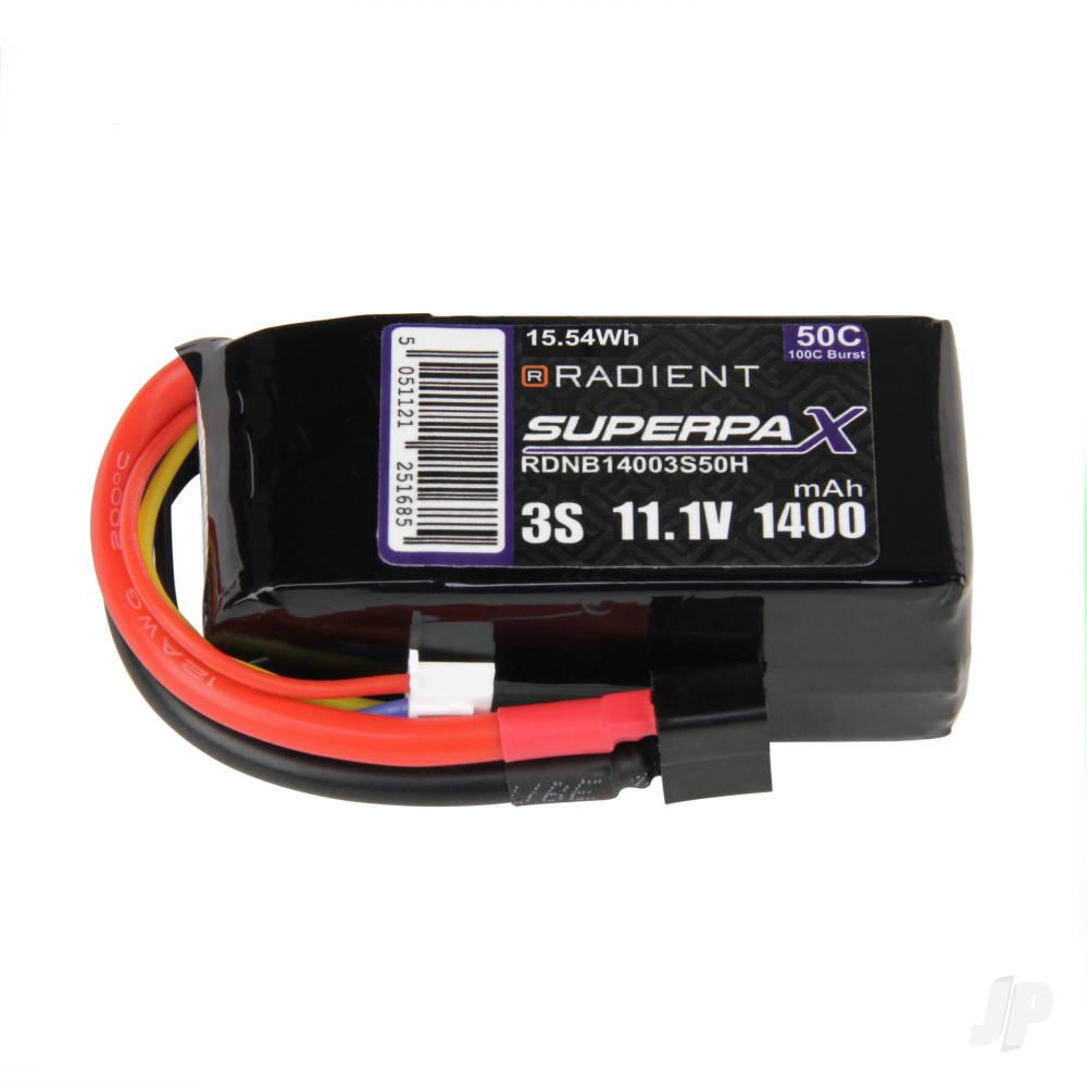 LiPo 3S 1400mAh 11.1V 50C Deans (HCT)
