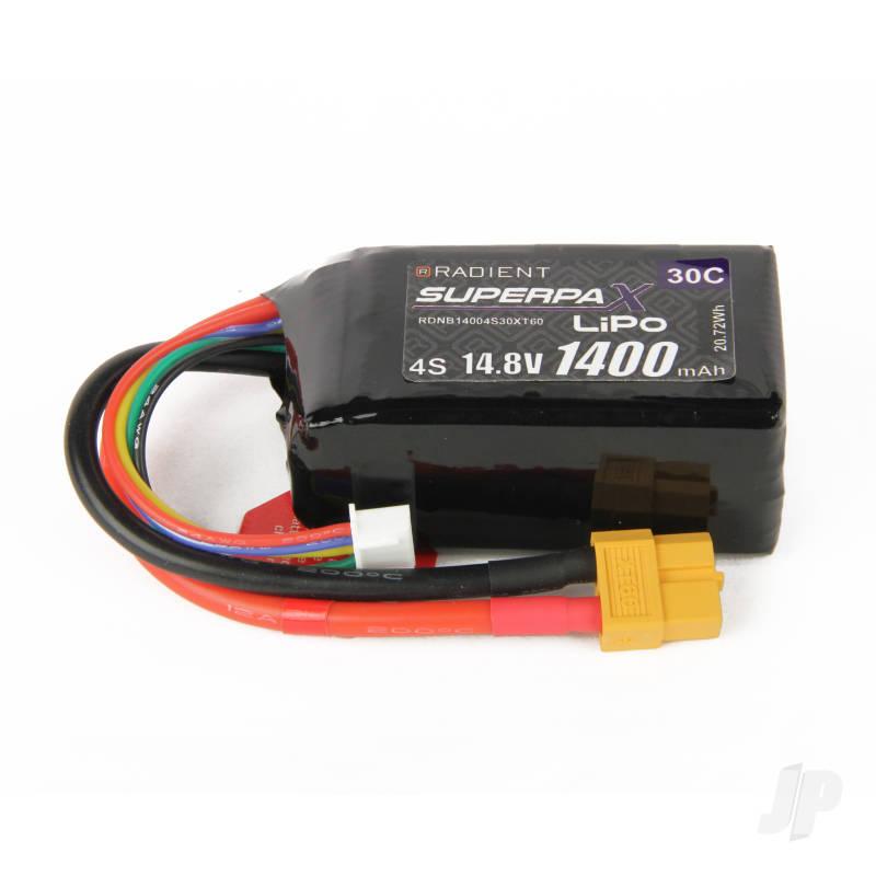 LiPo 4S 1400mAh 14.8V 30C XT60
