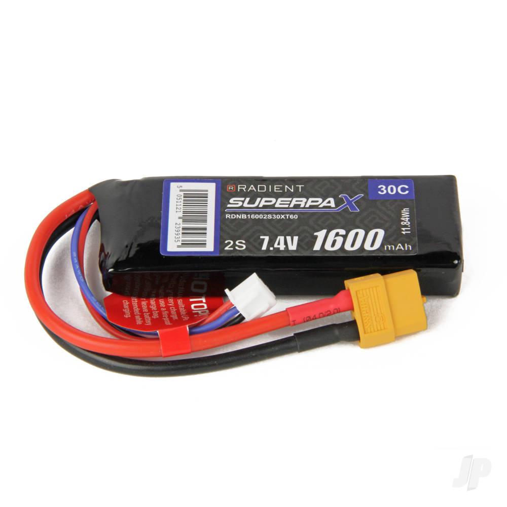 LiPo 2S 1600mAh 7.4V 30C XT60