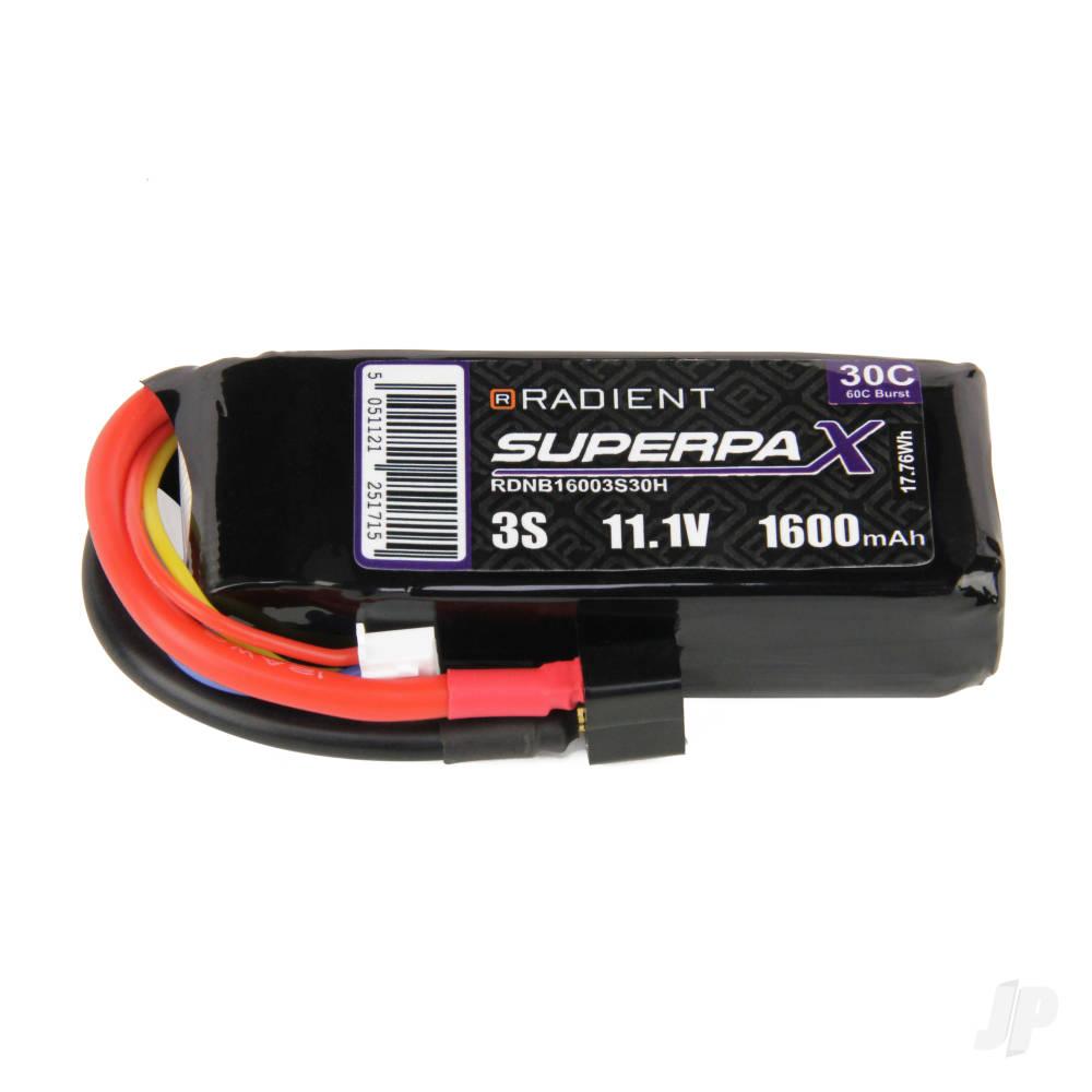 LiPo 3S 1600mAh 11.1V 30C Deans (HCT)